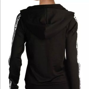 Bebe Sport Woman Small Black Hoodie Workout logo